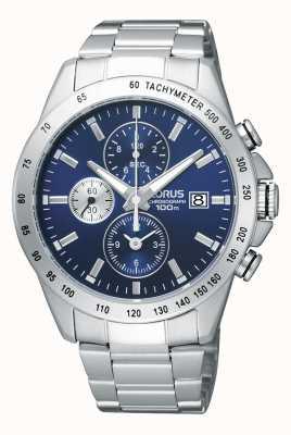 Lorus Hommes chronographe montre bracelet en acier RF851DX9