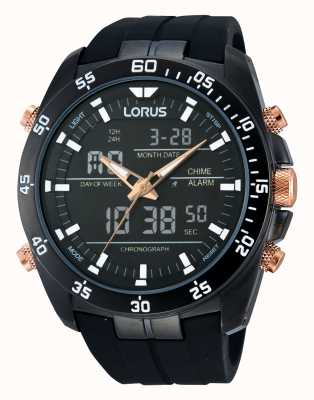 Lorus Alarme noir montre chronographe RW615AX9
