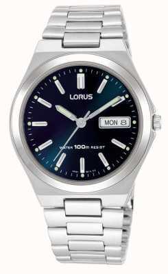 Lorus Mens cadran bleu foncé montre la date de la journée RXN17BX9