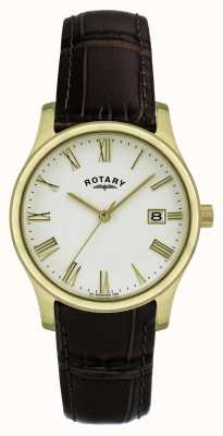 Montre homme Rotary plaqué or bracelet cuir GSI0794/32