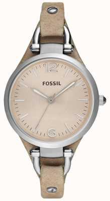 Fossil Bracelet bracelet en cuir analogue dames ES2830
