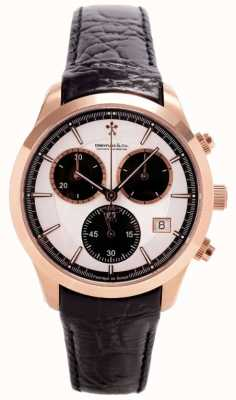 Dreyfuss Gents or rose bracelet en cuir chronographe DGS00063/06