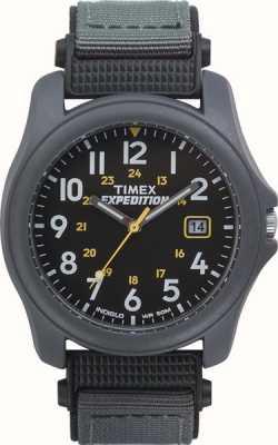 Timex Mens expédition visage noir montre bracelet en nylon T42571
