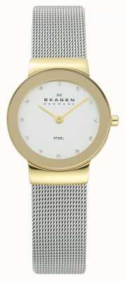Skagen Ton cas montre bracelet en maille d'argent d'or dames 358SGSCD