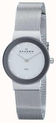 Skagen Cercle analogique cadran de la montre bracelet en argent dames 358SSSD