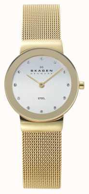 Skagen Montre maille de métal doré dames 358SGGD