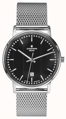 Junghans Milano messieurs inoxydable montre-bracelet en maille d'acier argent 014/4061.44