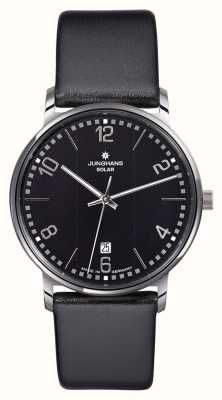 Junghans Milano gents montre bracelet noir 014/4062.00