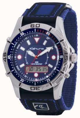 Kahuna Mens libération rapide bleu velcro chronographe K5V-0005G