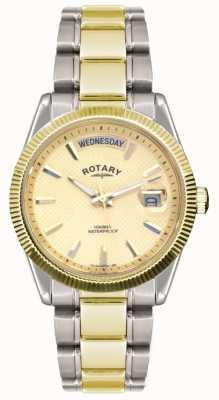 Montre-bracelet h. bicolore Rotary acier inox GB02661/20