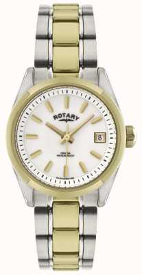 Rotary Havana ton de la montre bracelet en acier inoxydable de dames LB02661/11