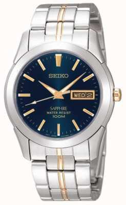 Seiko Minuit cadran bleu acier inoxydable détail or SGGA61P1