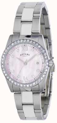 Montre-bracelet d. Rotary Havana bracelet acier/cristaux LB02343  LB02343/07