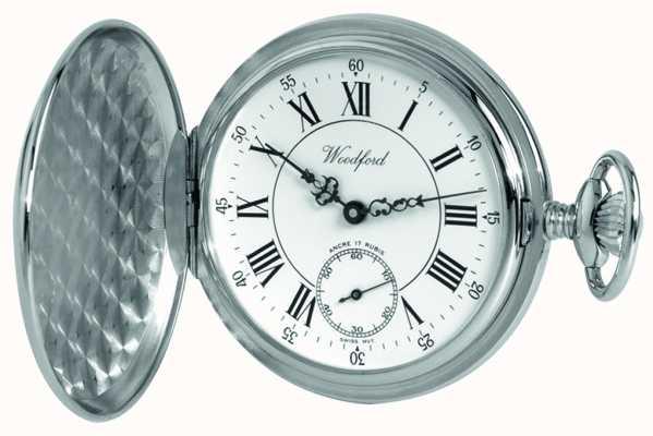 Woodford | chasseur complet | fini chrome | montre de poche | 1012