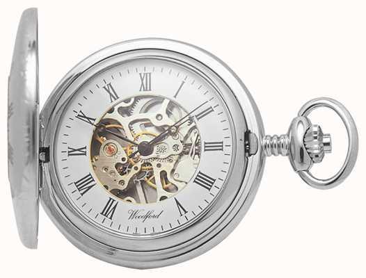 Woodford | demi chasseur | chromé | squelette | montre de poche | 1020