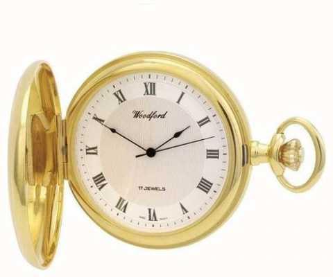 Woodford | chasseur complet | plaqué or | montre de poche | 1028