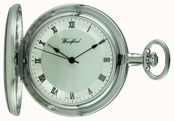 Woodford Chrome, cadran argenté, plein chasseur, montre de poche mécanique 1054
