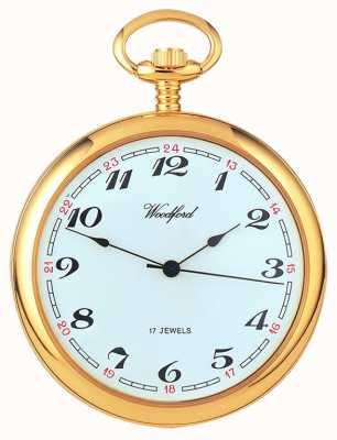 Woodford Arabe plaqué or cadran, la montre de poche mécanique, blanc 1031