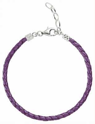 Chamilia Une taille violet métallique bracelet en cuir tressé 1030-0113