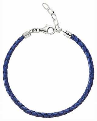 Chamilia Une taille bleu métallique bracelet en cuir tressé 1030-0111