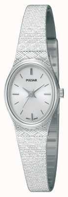 Montre Pulsar femme acier inoxydable, bracelet en résille, ovale PK3031X1