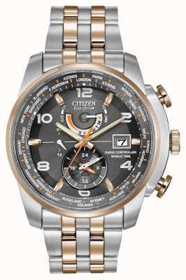 Citizen le temps des hommes du monde à cadran gris deux tons chronographe AT9016-56H