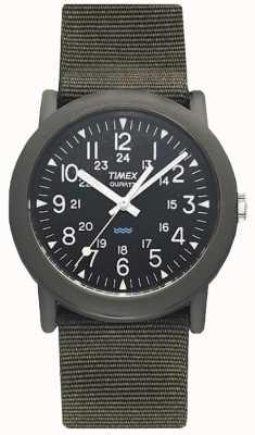 Timex Mens noir camping montre verte de l'expédition T41711
