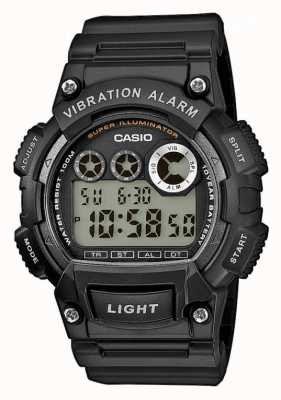 Casio Mens bracelet en résine montre d'alarme de vibration W-735H-1AVEF