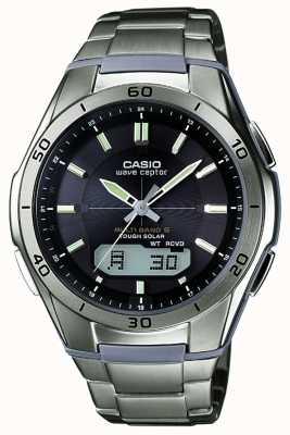 Casio Montre Wave Ceptor cadran noir pour homme en titane WVA-M640TD-1AER