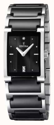Montre femme Festina céramique noire, acier inoxydable F16536/2