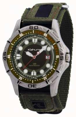Kahuna mens montre bracelet en tissu vert K5V-0003G