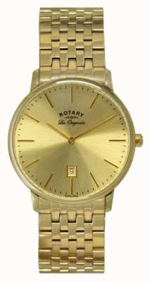 Rotary Mens kensington les montres originales de la plaque d'or GB90052/03