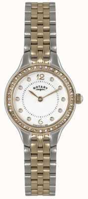 Rotary Mesdames plaqué or d'or montre analogique à quartz LB02868/01