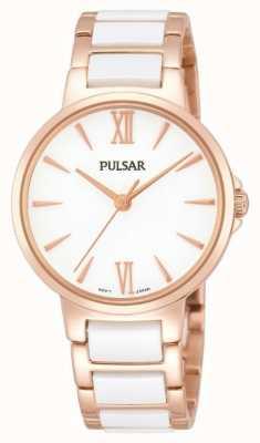 Pulsar Ladies 'Rose blanche classique montre habillée PH8078X1