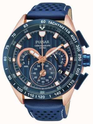 Pulsar Mens chronographe de sport à la mode PU2082X1