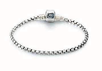 Chamilia Boîte en argent chaîne bracelet - oxydé (20 cm/7.9 en) 1012-0117