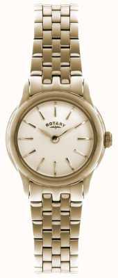 Rotary Mesdames plaqué or d'or montre analogique à quartz LB02573/01