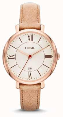 Fossil La jacqueline des dames, l'or, beige montre bracelet rose ES3487
