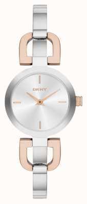 DKNY Deux tons, montre de bracelet de dames NY2137