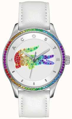 Lacoste Victoria multicolore montre blanche 2000822