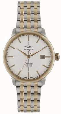 Rotary Mens automatique burlington deux montre de tonalité GB90061/06
