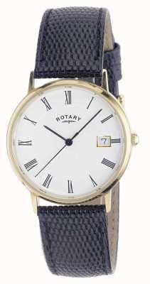 Rotary Mens 9ct montre en or cas de sangle GS11476/01