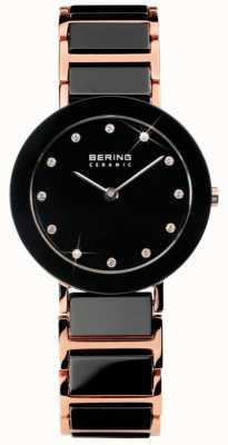 Bering Double tonalité moderne montre en cristal céramique 11429-746