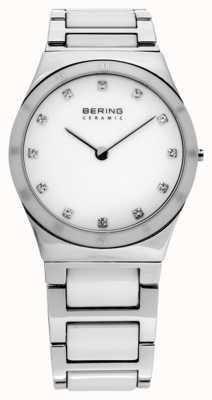 Bering Mesdames argent de montre analogique à quartz en céramique 32230-764