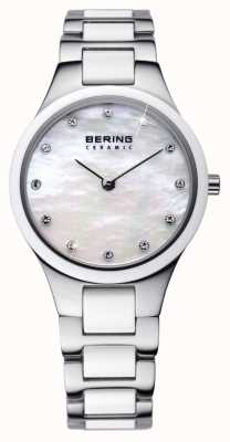 Bering Temps dames en céramique de montres d'argent 32327-701