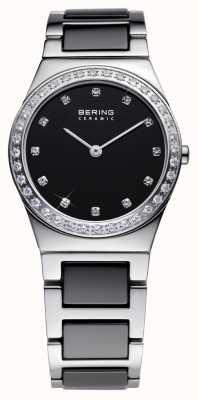 Bering Mesdames céramique noire de la montre à quartz analogique 32430-742