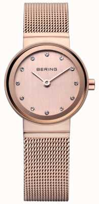 Bering Montre en or rose de maille classique 10122-366
