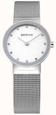 Bering Montre dames de temps | bracelet en maille d'argent en acier inoxydable | 10126-000