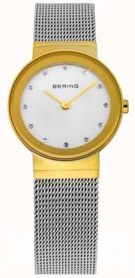 Bering Temps dames argent de montres de maille 10126-001