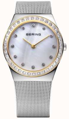 Bering Pierre incrustée montre ultra-mince 12430-010